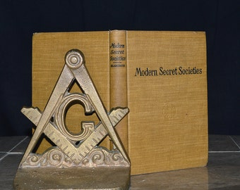 Modern Secret Societies - Antique 113 Year Old Book - Freemasonry, Odd Fellows, etc... Rare 1903 Edition - Occult / Fraternal / Masonic