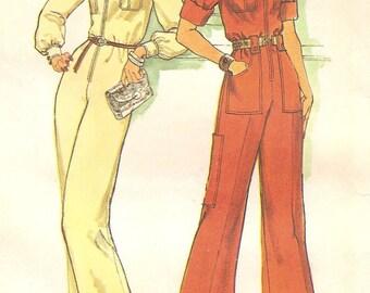 Jumpsuit Zip Front Vintage Sz 14 Pattern 1975