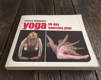 ON SALE - Vintage Yoga Book - Richard Hittleman's Yoga 28 Day Exercise Plan - Yoga Book First Edition 1969 - Yoga Exercise Book