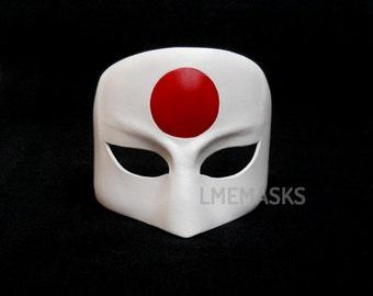 Katana Leather Mask Cosplay Suicide Squad White Task Force X Justice League Halloween Superheroine Masquerade Costume Carnival Mardi Gras