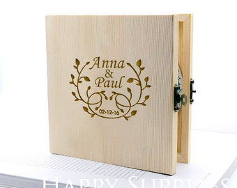 Custom CD Box, Personalised Wooden DVD Case - Wedding CD Music Video Wedding Photographs (CD02)