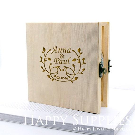 Custom CD Box Personalised Wooden DVD Case Wedding CD Music