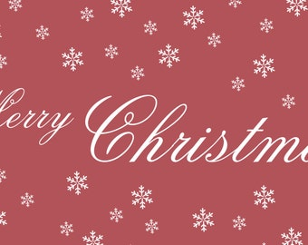 Merry Christmas Banner With Snowflakes