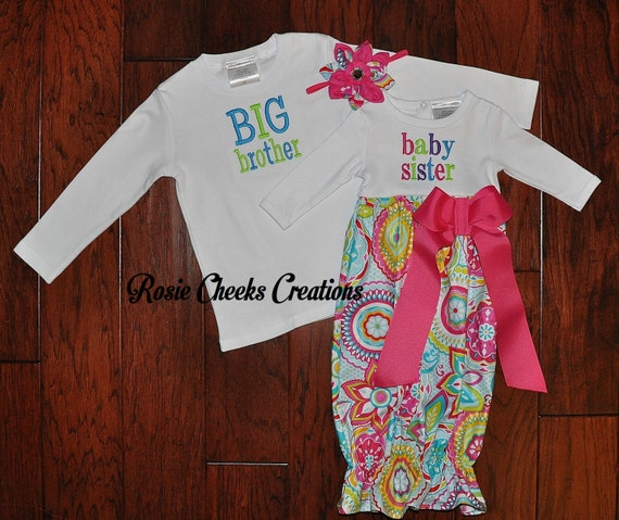 Baby Gifts For Big Brother : Items similar to big brother little sister baby