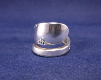 FREE SHIPPING Silver Spoon Ring-1950 Bridal Wreath-Spoon Jewelry