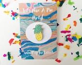 Pineapple Enamel Lapel Pin Badge