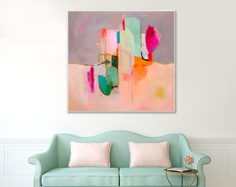 Abstract painting print, ABSTRACT large, Pink, abstract art, original abstract large painting, contemporary fine art giclee print