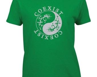 Coexist Glitter Women's T-shirt