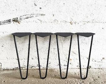 Ensemble de 4 Pieds en Épingles Noirs | Hairpin Legs