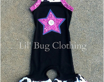 Cowgirl Romper Outfit, Toddler Romper Outfit, Girls Western Wear Outfit, Custom Boutique Girl Clothes, Comfy Knit Romper Outfit,