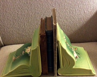 Beautiful Vintage Roseville Bookends