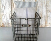 Vintage Locker Basket, Antique Wire Basket, Vintage Gym Basket, Swim Basket