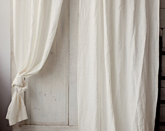 stonewashed linen curtain 12 colours linen window panel linen curtains with ties