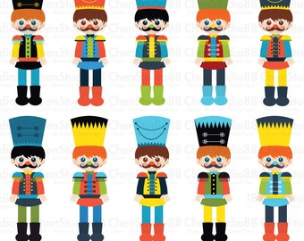 Nutcracker vector - Digital Clipart - Instant Download - EPS, PNG files included