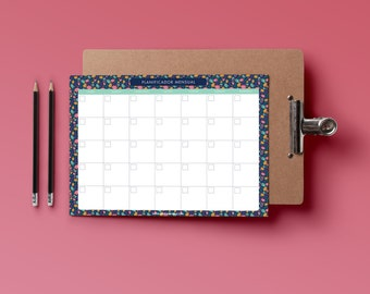 Monthly planner printable. Beautiful planner.