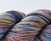 Serendipity's Dark Side on Classic Sock (Lot 10) - Gray, Red, Blue, Green, Yellow, Orange, Purple Variegated Fingering Yarn
