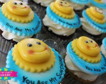 Sunshine Cupcake Toppers - 1 Dozen