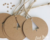 Beautiful Paper Christmas Tree Cutout Present Tags for all festive occasions!!