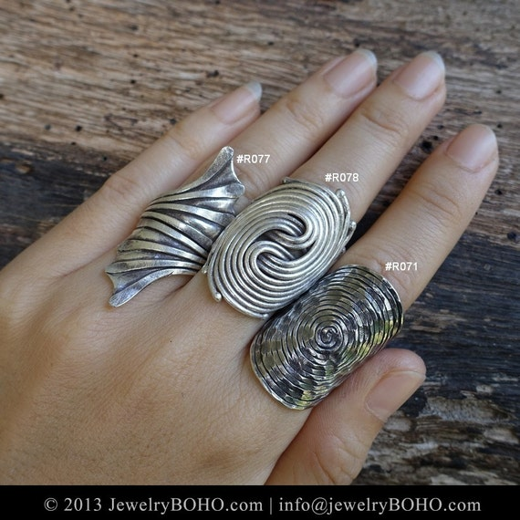 boho 925 silver ring hippie ringbohemian by