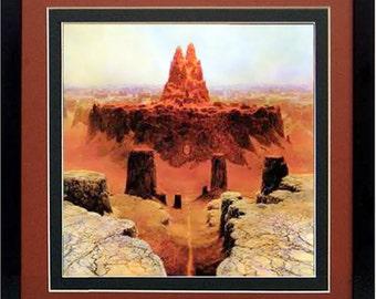 Framed Beksinski Art Poster Landscape
