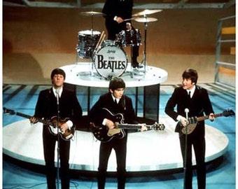Beatles Ed Sullivan Show Vintage Art Poster