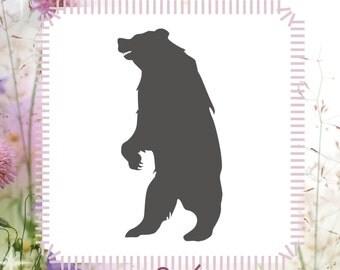 Bear Animal Stencil Reusable Craft Stencil