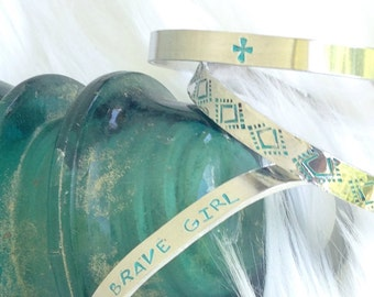 Brave girl cuff, Christian jewelry