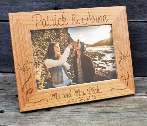 Personalized Wedding Picture Frame, Wood Frame, Wedding Shower, Bridal ...