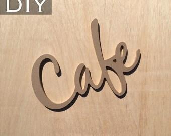 DIY/CAFE word art cutout