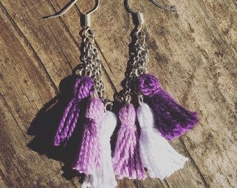 Handmade Ombre Tassel Earrings