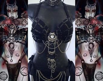 Enchantress Outfit (top, headband, belt)- Rave wear, rave outfit, edm, edc, festival, rave, halloween, costume, villian, suicide squad