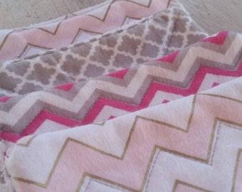 Cute and Soft Washcloths, Set of 3 Washcloths, Girly Washcloths