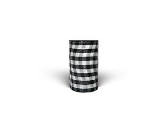 "6""X 20 YARDS DESIGNER Deco Mesh Netting HOUNDSTOOTH /  Deco Mesh Supplies/MR81206"