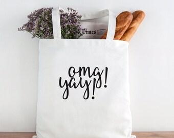 OMG YAY, YAY, Bride Tote Bag, Bride, Wedding, Wedding tote, Bride gift