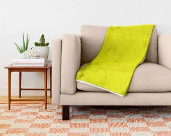 Lemon Yellow Blanket, Yellow Throw Blanket, Yellow Fleece Blanket, Yellow Throw Blanket, Yellow Baby Blanket, Yellow Bedroom