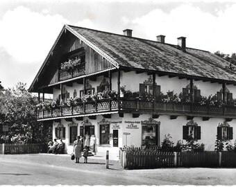 Geschäftshaus Brandl, Elbach im Leitzachtal, Germany, circa 1950 Black an Whte Real Phoo Postcard