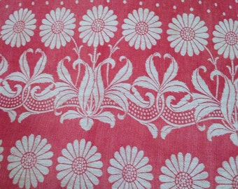 Antique French turkey red table linen