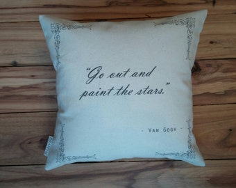 """Personalized Quote Pillow 10"""" by 10"""" - Insert Included, 100% Cotton Fabric"""