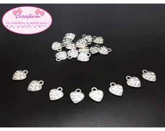 "60 charms heart ""Made with love"""
