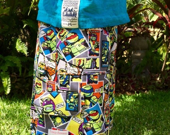 Boys Ninja Turtle Comic Head Multipocket Cargo Shorts