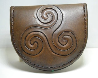 Wallet for coins - leather