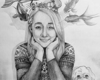 Portrait drawings 9x12