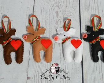 Reindeer Decoration's (Set of 4)
