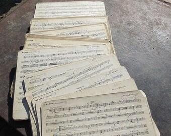 "PROMOTION: 42 Vintage orginal music sheets of  French opera ""Manon"" (Jules Massene)"