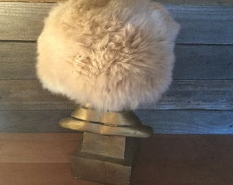 Vintage Blonde Fur Hat