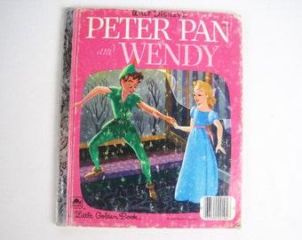 Walt Disney's Peter Pan and Wendy – Vintage Children's Little Golden Book – 104-51