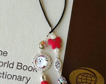 Unique bookmark Dog Lover bookmark Tassle bookmark beaded bookmark Dog Bookmark Book lover gifts Best friend gift Gift for her under 20