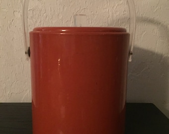 Vinyl Ice Bucket with Acryllic Handle