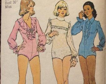 Misses' Vintage Bodysuit Pattern Simplicity 6042