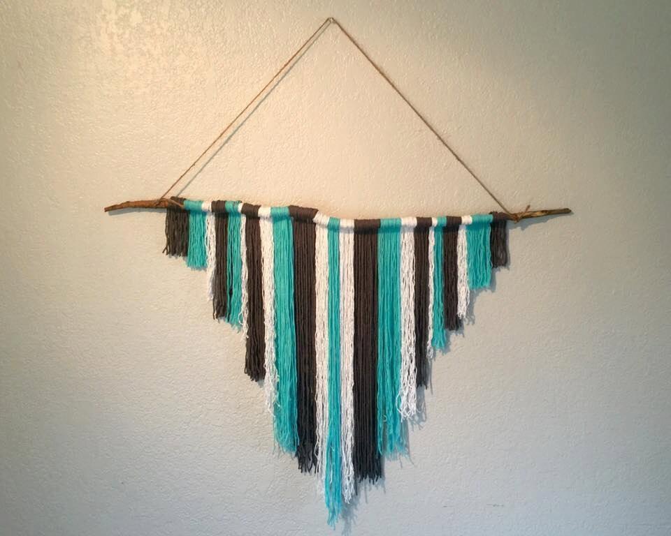 Boho Yarn Wall Decor / Hippie Decor / Colorful Decor / Dorm